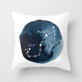 Scorpius Zodiac Constellation Throw Pillow