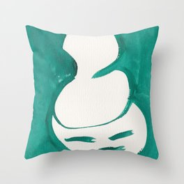 Catty Is  Giddy | 181218 Faces Watercolour Kawaii Throw Pillow