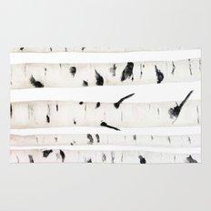 birch  watercolor Rug