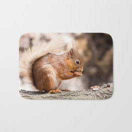 Squirrels Dinner time Bath Mat