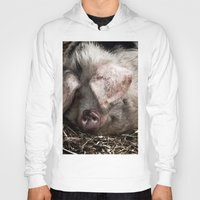 pigs Hoodies featuring Pigs Head by Goncalo