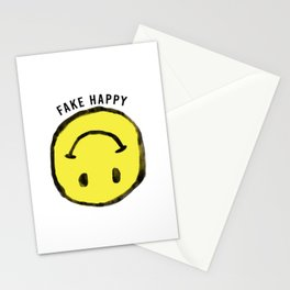 :( F A K E H A P P Y :) Stationery Cards