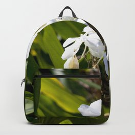 Watercolor Flower, White Ginger Lily 01, Rock Run, Florida Backpack