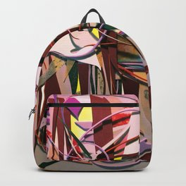 Confectionary- Colorful Abstract Mixed Media  Backpack