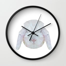 Bunny Portrait Wall Clock