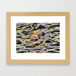 landscape / compression / velocity Framed Art Print
