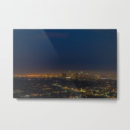 LA Skyline at Night Metal Print