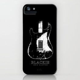 Blackie - Eric Clapton - Back body - Stratocaster iPhone Case