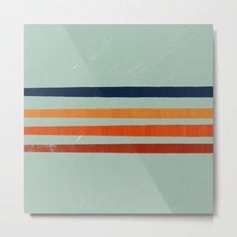 Crayons stripes  Metal Print