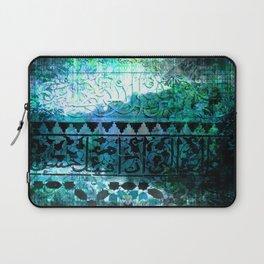 Dark Blue Abstract Celtic Laptop Sleeve