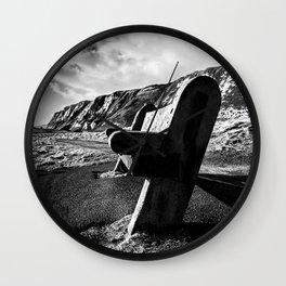 Seaside Bench. Wall Clock