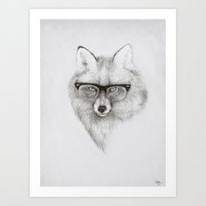 Fox Specs Art Print