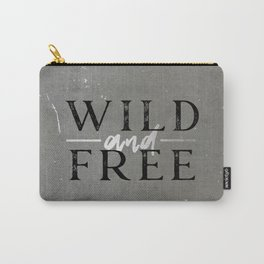 Wild and Free Silver Carry-All Pouch