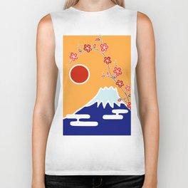 Mount Fuji and Sun Rise Biker Tank
