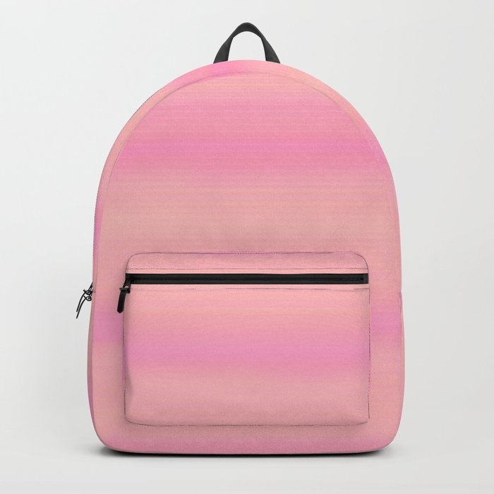 Soft pastel gradient pink tones Backpack