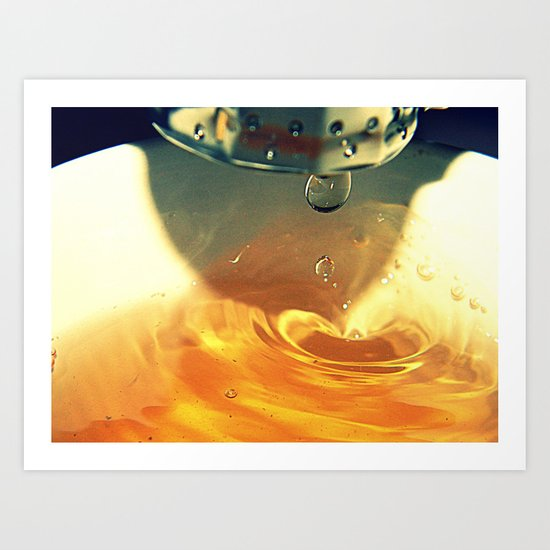 A Drop of Tea Art Print