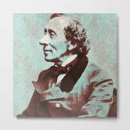 Hans Christian Andersen Metal Print