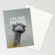 I am the Boss - Ostrich. Stationery Cards
