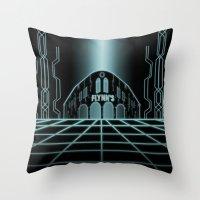 tron Throw Pillows featuring Tron Legacy by Yuri Meister