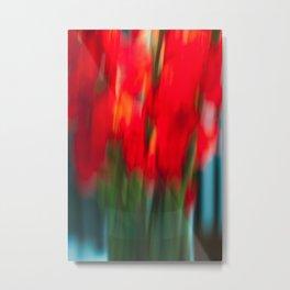 Red Gladiola Metal Print