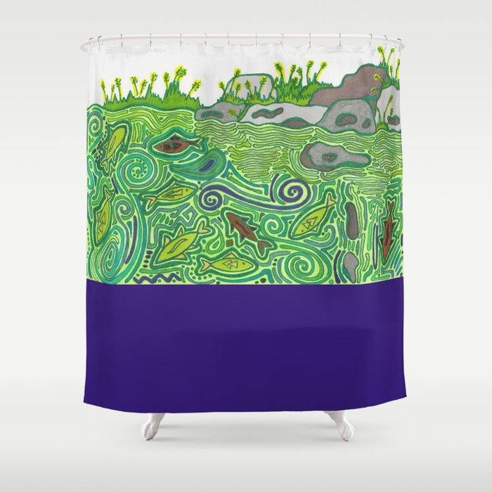 Fishies Shower Curtain