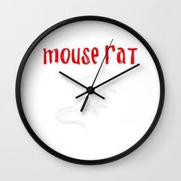 mouse rat Wall Clock