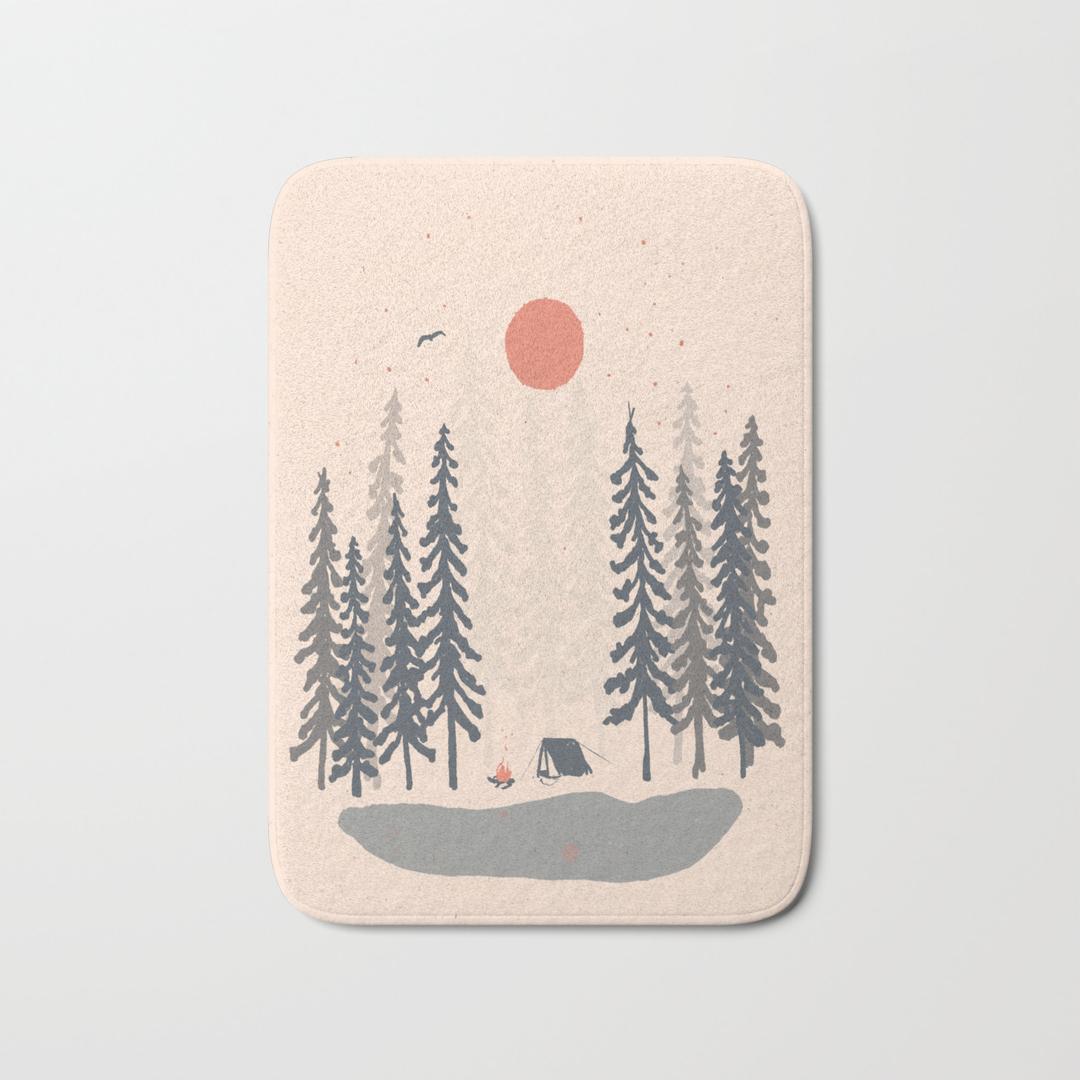camp bath mats | society6
