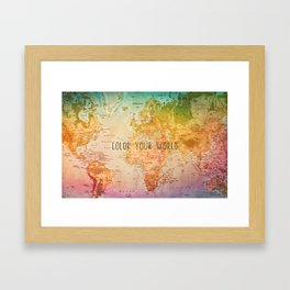 Color your World Framed Art Print