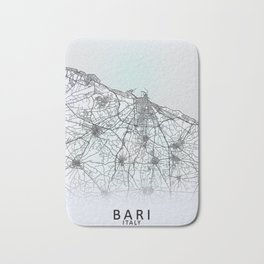 Bari, Italy, White, City, Map Bath Mat