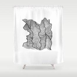 Contour Lines Shower Curtain