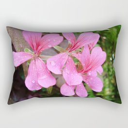 Pretty Pink Flowers Rectangular Pillow