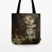 clown Tote Bags featuring clown  by AliluLera