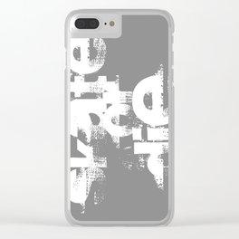 Skate or die Clear iPhone Case