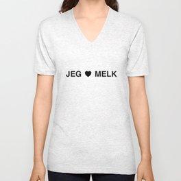 Jeg elsker melk Unisex V-Neck