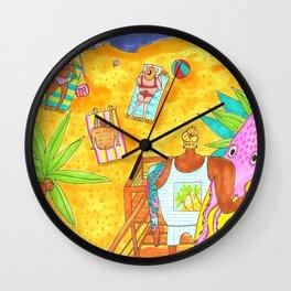 California beach surf Wall Clock