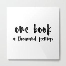 One book. Metal Print