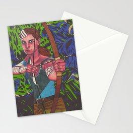 Lara on Fire Stationery Cards