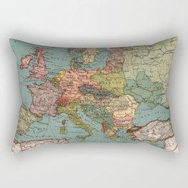 Vintage Map of Europe (1921) Rectangular Pillow