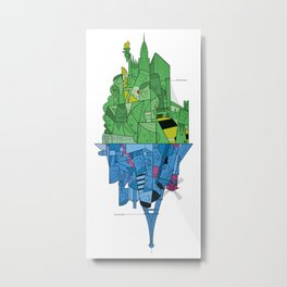 From Paris to New York and back Metal Print
