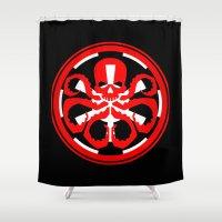 hydra Shower Curtains featuring Hydra Empire by •tj•rae•