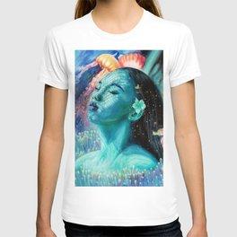 Wonder Underwater fantasy oil painting, beautiful girl T-shirt