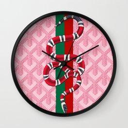 Goyard Pink Guci Wall Clock