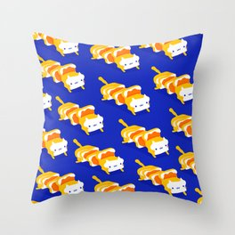 Toast Cat Throw Pillow