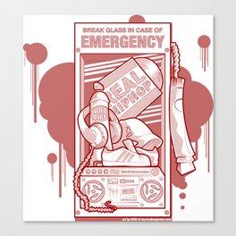 Emergency Hip Hop Red Canvas Print