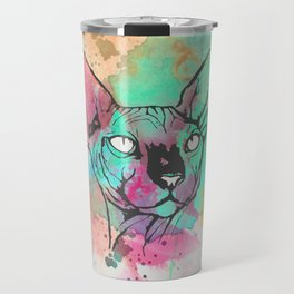 Watercolor Sphynx Travel Mug