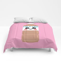 Happy Pixel Milk Tea Comforters