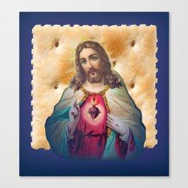 Christ On A Cracker Canvas Print