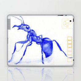Ant on a Japanese Postcard Laptop & iPad Skin