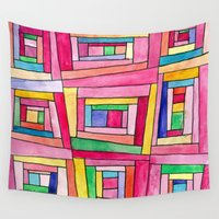 quilt Wall Tapestries featuring Crazy Quilt by Tonya Doughty