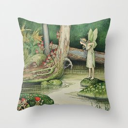 """Hide and Seek"" by Ida Rentoul Outhwaite (1916) Throw Pillow"